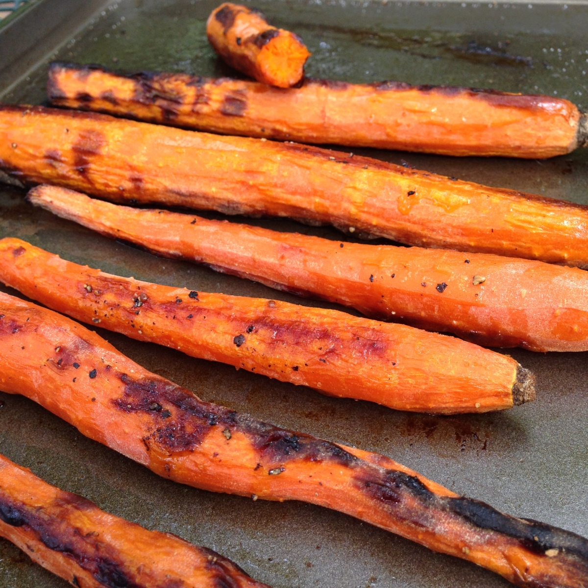 Salt and Pepper Roasted Carrots